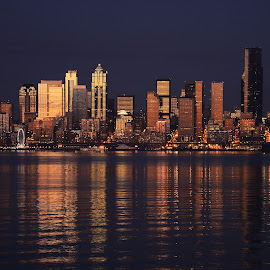 The Edge of Night, Seattle by Laddy Kite - Buildings & Architecture Other Exteriors