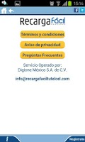 Screenshot of Recarga Fácil tu Telcel