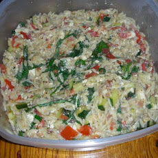 Warm Orzo Salad