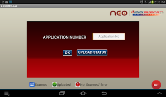 Screenshot of NEO One Touch Scan & Upload