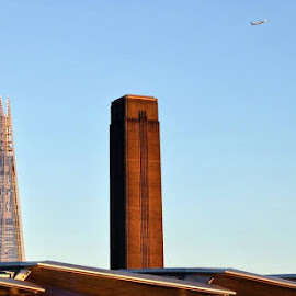Flying me to the Moon by Federico Domenici - City,  Street & Park  Skylines ( skyline, moon, shard, london, tatemodern )