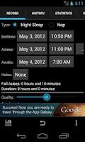 Screenshot of Sleepmeter Free