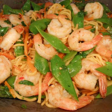 Prawn (Shrimp) and Snowpea Noodle Stir Fry