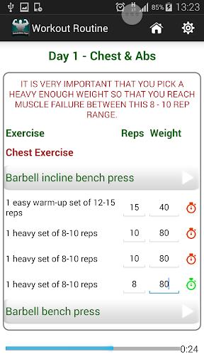 8 Week Muscle Building Trainer - screenshot