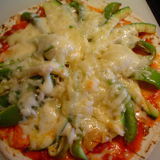 Grilled Vegetable Tortilla Pizza