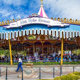 Disney Carrousel by Roger Bourland - City,  Street & Park  Amusement Parks ( carrousel, merry-go-round, disneyland, disney )