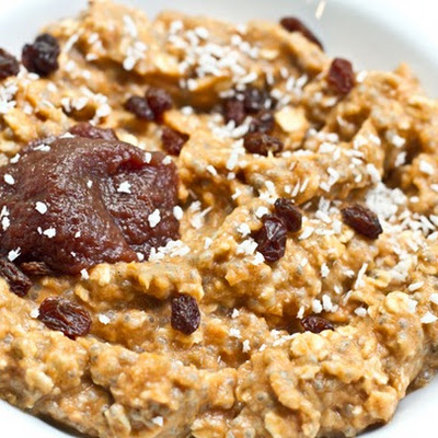 Raisin Pumpkin Spice Vegan Overnight Oats