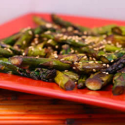 Roasted Asparagus Recipe with Soy-Sesame Flavors