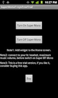Screenshot of Super BT Mono Froyo Free