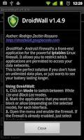Screenshot of DroidWall - Android Firewall