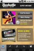 Screenshot of Nashville Live Music Guide