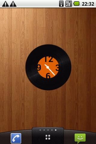 Vinyl record clock widget