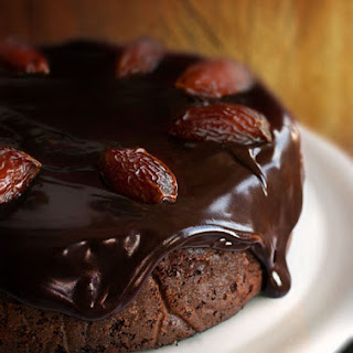 Chocolate-Date Cake with Chocolate Sticky Toffee Glaze