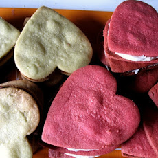 Cocoa-Peanut Butter Heart-Shaped Sandwich Cookies
