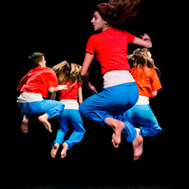Jump Generation by Mladen Bozickovic - People Musicians & Entertainers ( dancing, dancers, jumping, people, young, together, jump, girl, air, high, group, dance, hair, boy, culture )
