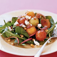 Melon Salad With Prosciutto and Goat Cheese