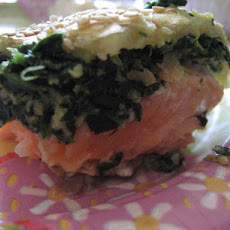 Spinach Salmon Roll