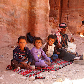 Magic carpet ride by Name of Rose - People Family ( jordan, boys, carpet, old man, bedouin, petra )