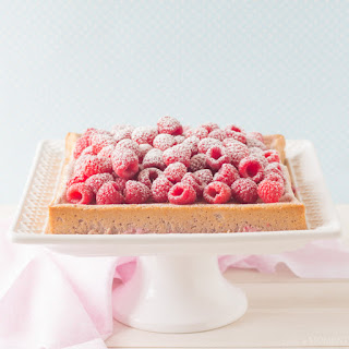 Raspberry Magic Custard Cake