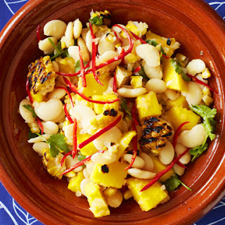 Chargrilled Corn And Lima Bean Salad With Mango And Mojo Criollo