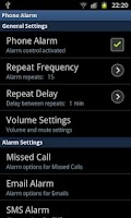 Screenshot of phoneAlarm