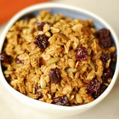 Pumpkin Granola with Dried Cherries