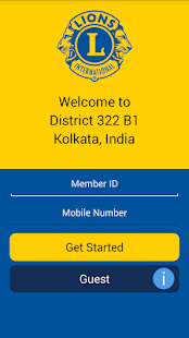 Lions Clubs Int District 322B1 - screenshot