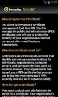 Screenshot of PKI Client