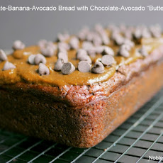 Chocolate-Banana-Avocado Bread with Chocolate-Avocado Buttercream