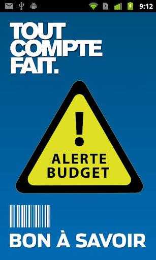Alerte Budget