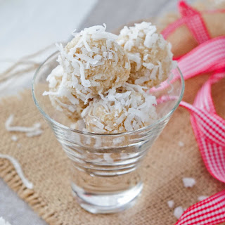 Peppermint Coconut Snowball Cookies