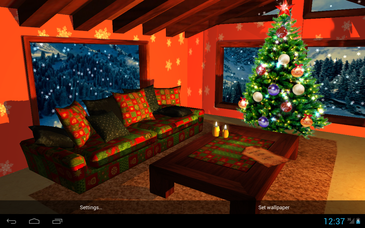 3D Christmas Fireplace HD Full Screenshot 8