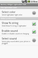 Screenshot of Battery Widget Lightsaber Full