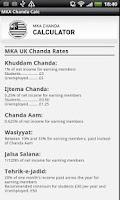 Screenshot of MKA UK Chanda App