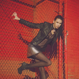 Rhiannon by Chrystal Olivero - People Fashion ( fashion, red, people, portrait, black )