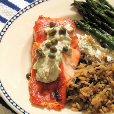 Broiled Salmon With Garlic