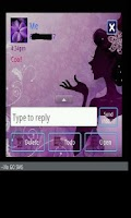 Screenshot of GO SMS THEME/purplebutterfly
