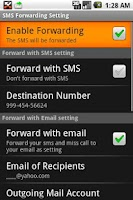 Screenshot of SMS Forwarding