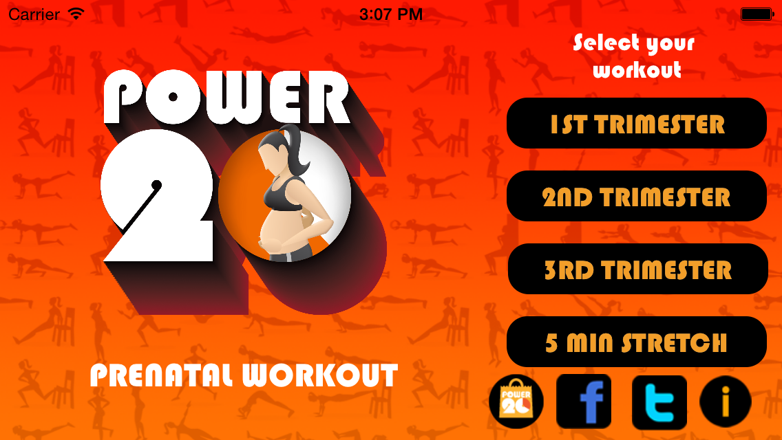 Pregnancy Workouts by Power 20 Screenshot 0