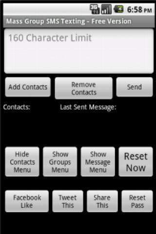 Mass SMS Group List Textor