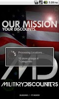 Screenshot of Military Discounters