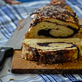 Der Strudel by Mario Denić - Food & Drink Cooking & Baking ( cherry, eat, baking, strudel, pie, knife,  )