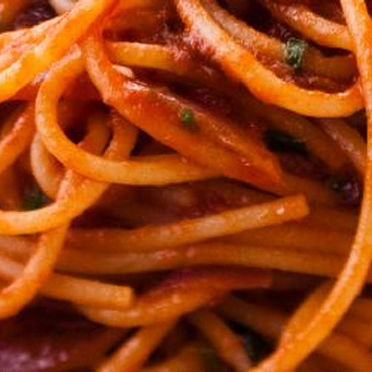 Bucatini All'Amatriciana Alla Robert Sietsema Recipes — Dishmaps