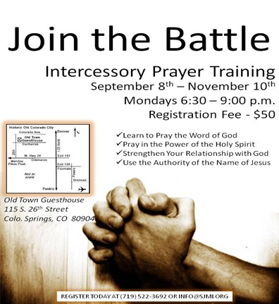 Intercessory Prayer Training Flyer