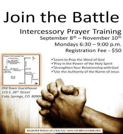Intercessory Prayer Training Flyer