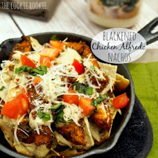Blackened Chicken Alfredo Nachos