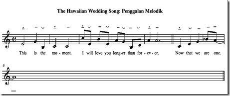 The hawaiian wedding song penggalan
