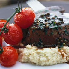 Eye Fillet With Green Peppercorn Sauce