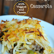 Hashbrown Hamburger Casserole with Veggies and Cheese