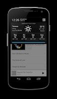 Screenshot of Notification Weather
